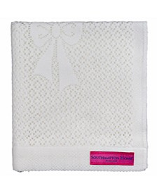 Lace Weave Bears Bows Baby Blanket