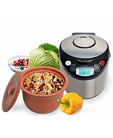 Smart Organic Digital Express - A Rice Slow Cooker, A Digital Steamer and A Yogurt Maker, 4.2 QT