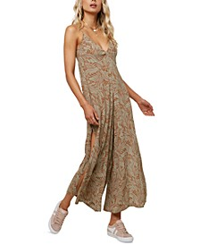 Juniors' Jace Printed Wide-Leg Jumpsuit