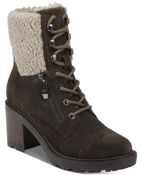 Marc Fisher Lansly Lace-Up Booties
