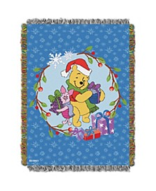 Winnie the Pooh Christmas Tapestry Throw