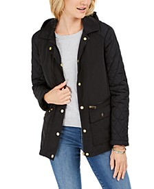 Quilted Hooded Jacket, Created For Macy's