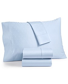 Bergen House Woven Diamond Dot 4-Pc. California King Extra Deep Sheet Set, 1000-Thread Count 100% Certified Egyptian Cotton
