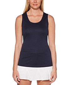 Grand Slam by Cutout-Back Tennis Tank Top