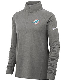 Women's Miami Dolphins Pro Half-Zip Element Pullover