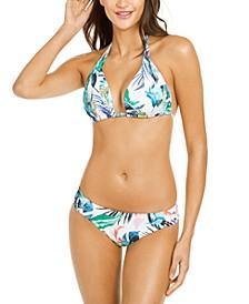 Halter Bikini Top & Ruched Bottoms