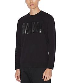 Men's Regular-Fit Textured Logo Sweatshirt