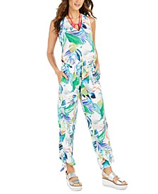 In The Moment Floral-Print Jumpsuit Cover-Up