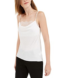 Lace-Trim Rumpled Camisole Top
