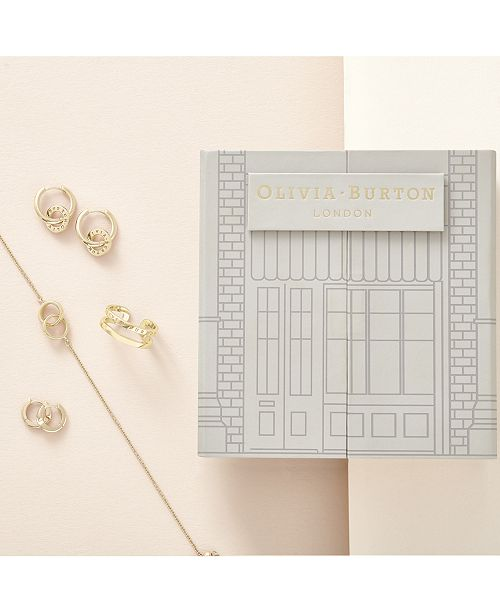 Olivia Burton 4-Pc. Set Logo Bracelet, Hoop Earrings & Ring