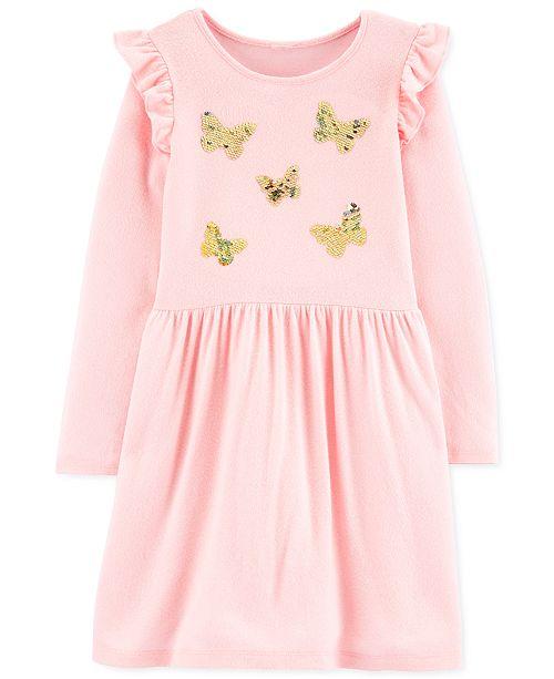 Carter's Little & Big Girls Sequin-Butterflies Jersey Dress