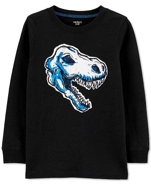 Carter's Little & Big Boys Glow-In-The-Dark Dinosaur Cotton T-Shirt