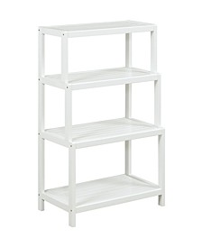 Dunnsville 4-Tier Step Back Shelf Bookcase