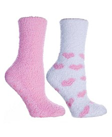 Women's Hearts Lavender Infused Slipper Socks, 2-Pair Pack