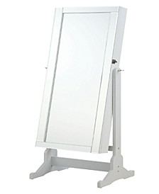 Quincy Jewelry Cheval Mirror with Interior Storage