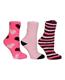 Heart Cozy Sock Giftbox, 3-Pack