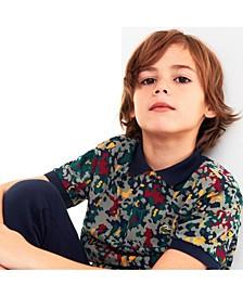 Toddler, Little and Big Boys Camo Print Polo Shirt