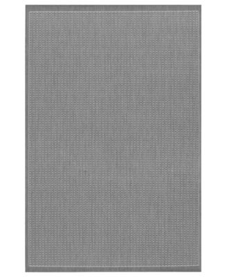 CLOSEOUT! Area Rug, Indoor/Outdoor Recife 1001/3012 Saddle Stitch Grey-White 5'10