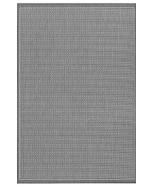 CLOSEOUT! Rugs, Indoor/Outdoor Recife 1001/3012 Saddle Stitch Grey-White