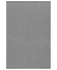 CLOSEOUT! Couristan Rugs, Indoor/Outdoor Recife 1001/3012 Saddle Stitch Grey-White