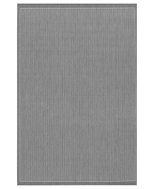 "Couristan CLOSEOUT! Area Rug, Indoor/Outdoor Recife 1001/3012 Saddle Stitch Grey-White 5'10"" x 9'2"""