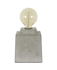 Decor Therapy Enzo Square Concrete Uplight with Edison Bulb