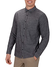 Men's Solid Button-Down Shirt