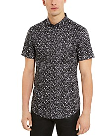 Men's Slim-Fit Stretch Bubble-Print Shirt