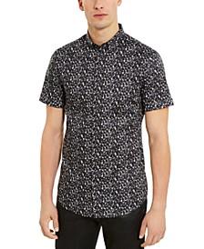 Men's Slim-Fit Stretch Bubble-Print Shirt