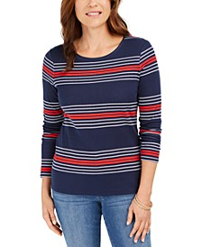 Striped Cotton Top, Created For Macy's