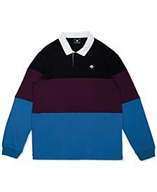 Men's Tivoli Regular-Fit Colorblocked Rugby Stripe Polo Shirt