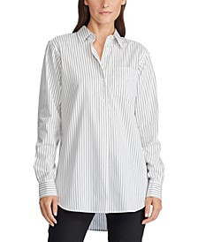 Box-Pleated Cotton Shirt
