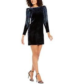 Chantal Velvet Embellished Dress