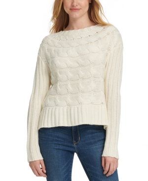 Dkny Knits HORIZONTAL CABLE-KNIT SWEATER