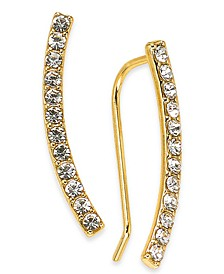 INC Pavé Bar Climber Earrings, Created For Macy's