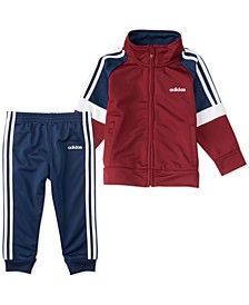 Baby Boys Colorblocked Tricot Jacket & Jogger Pants Set