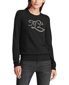Beaded Logo Sweater