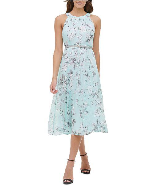 Tommy Hilfiger Floral Belted Dress