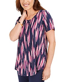 Short-Sleeve Printed Top, Created For Macy's