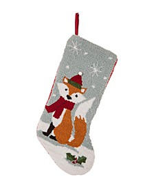 "19"" L Hooked Fox Stocking"