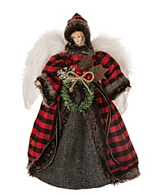 "12"" H Plaid Angel Tree Top"
