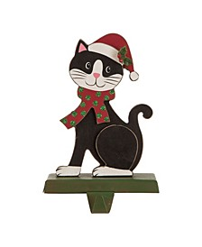 "7.76"" H Wooden Cat Stocking Holder"