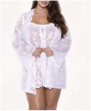 Plus Size Willow Lace Dressy Robe