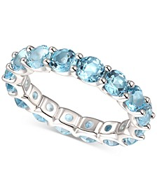Blue Topaz Eternity Band (2-5/8 ct. t.w.) in 14k Yellow Gold-Plated Sterling Silver(Also Available In Amethyst, Citrine, Multi, Rhodolite Garnet, and Lab Created Opal)