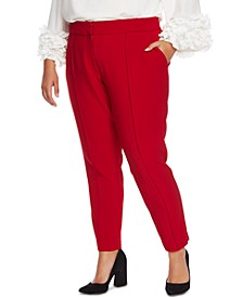 Plus Size Pintuck Stretch Pants