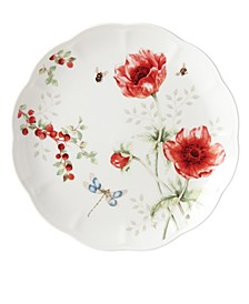 Butterfly Meadow Red Dragonfly Dinner Plate, Created for Macy's