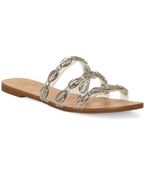 INC International Concepts INC Women's Voma Shell Strappy Slide Sandals, Created For Macy's