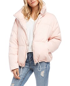 Drawstring Puffy Jacket