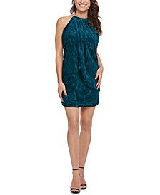 kensie Velvet Print Dress