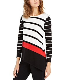 Mixed-Stripe Sweater, Created For Macy's